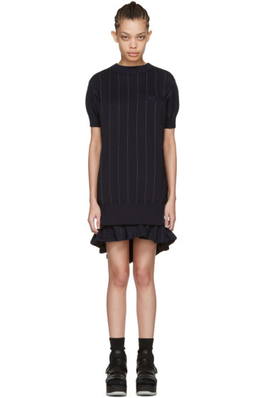 Sacai - Navy Striped Dress