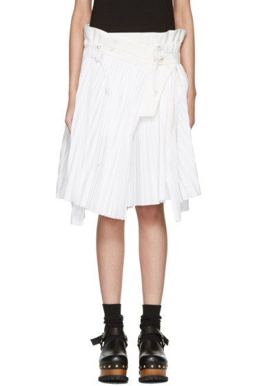 Sacai - White Cole Skirt