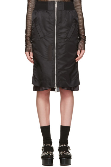 Sacai - Black MA-1 Skirt