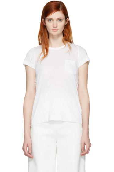 Sacai - White Dot Lace T-Shirt