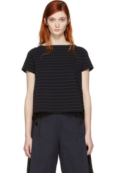 Sacai - Black Striped Dixie T-Shirt