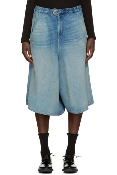 6397 - Indigo Denim Shorts