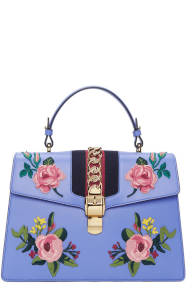 Gucci - Blue Medium Sylvie Bag