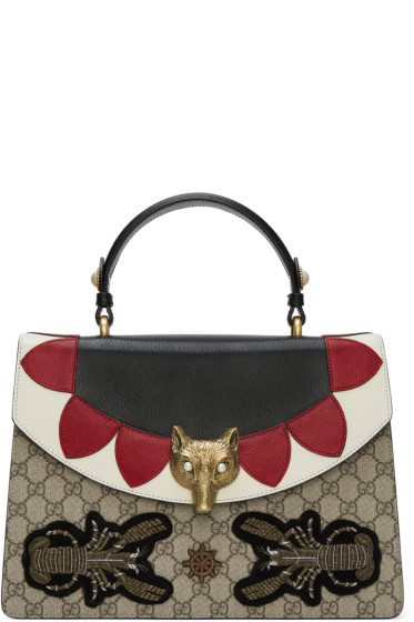 Gucci - Multicolor Medium GG Supreme Broche Bag