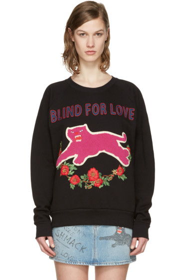 Gucci - Black Embroidered Pullover