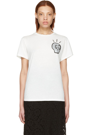 Gucci - White 'Life Is Gucci' T-Shirt