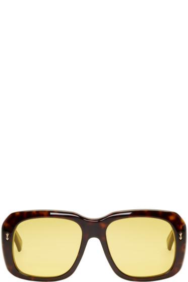 Gucci - Tortoiseshell Bold Rectangular Sunglasses