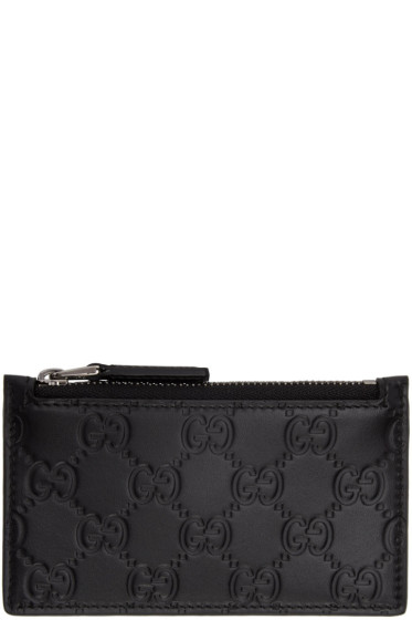 Gucci - Black GG Avel Zip Card Holder