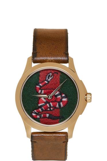 Gucci - Gold Medium G-Timeless Snake Watch