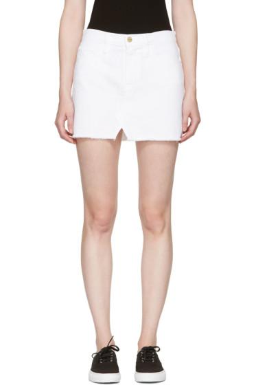 Frame Denim - White Denim 'Le Mini Split Front' Miniskirt