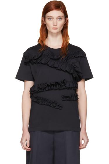 Cédric Charlier - Navy Ruffle T-Shirt
