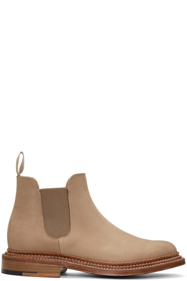 Grenson - Beige Suede Christopher Boots