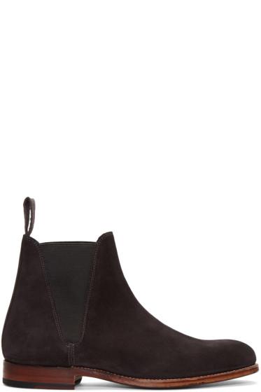 Grenson - Grey Suede Nolan Boots
