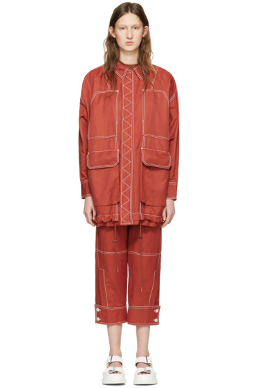 Stella McCartney - Red Four Pockets Coat