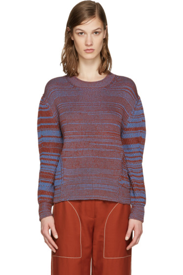 Stella McCartney - Orange & Blue Marled Sweater
