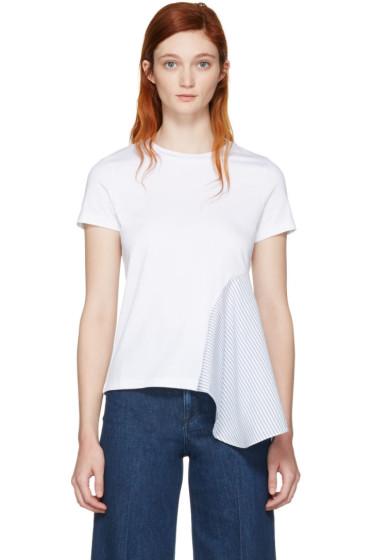 Stella McCartney - White Asymmetric Combo T-Shirt