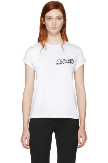 Stella McCartney - White 'All is Love' T-Shirt