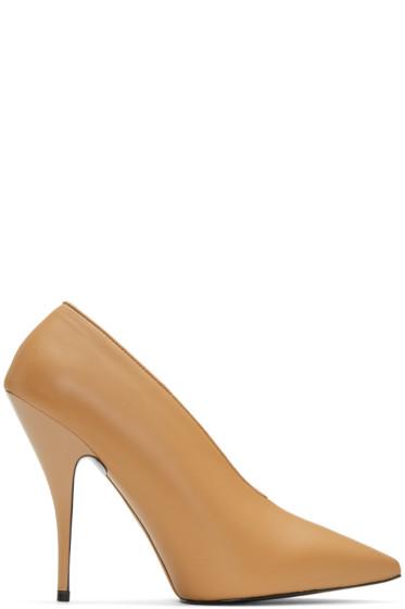 Stella McCartney - Tan Pointed Heels