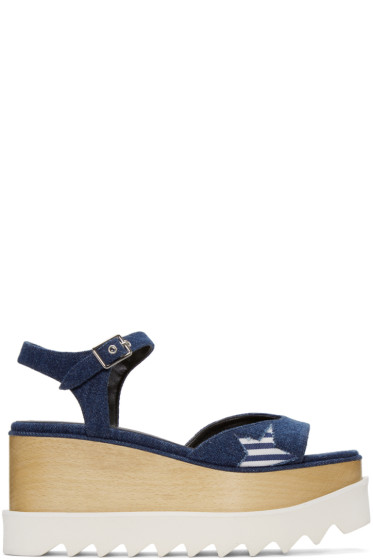 Stella McCartney - Blue Star Denim Elyse Sandals