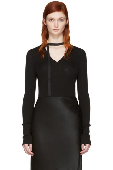Nina Ricci - Black V-Neck Sweater