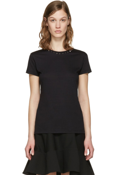 Valentino - Black 'Rockstud Untitled' 09 T-Shirt