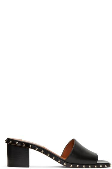 Valentino - Black Soul Stud Slip-On Sandals