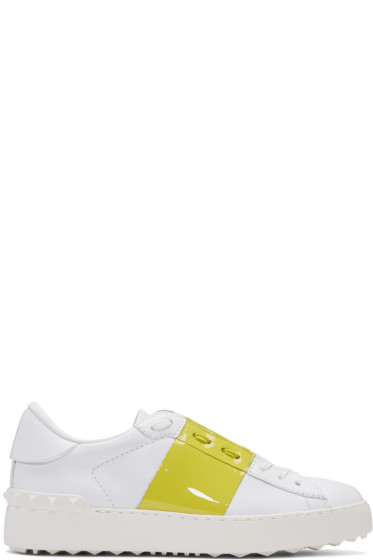 Valentino - White & Yellow Open Sneakers
