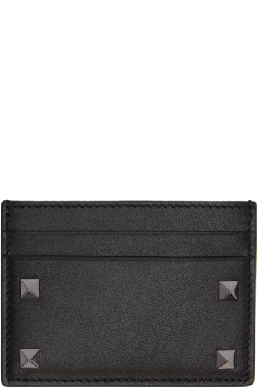 Valentino - Black Big Rockstud Card Holder