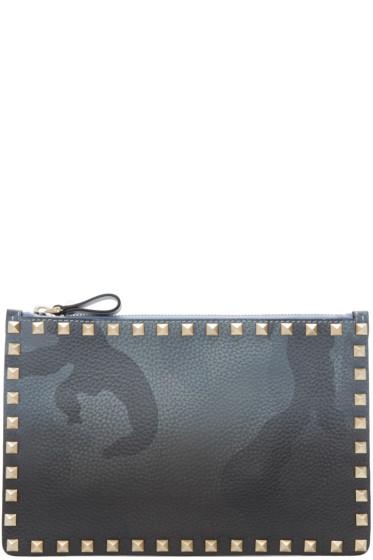 Valentino - Grey Camo Rockstud Pouch