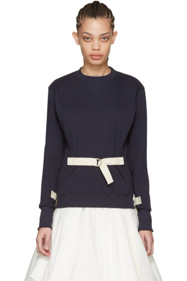 J.W. Anderson - Navy D-Ring Pullover