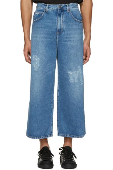 J.W. Anderson - Blue Loose Fit Jeans