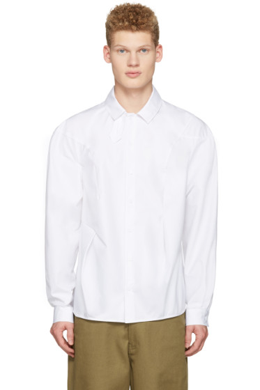 J.W. Anderson - White Bold Shoulder Shirt