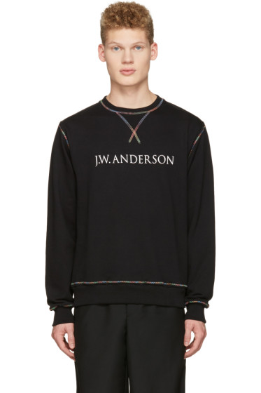 J.W. Anderson - Black Rainbow Stitch Logo Pullover