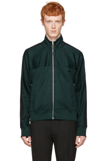 AMI Alexandre Mattiussi - Green Track Zip-Up Pullover