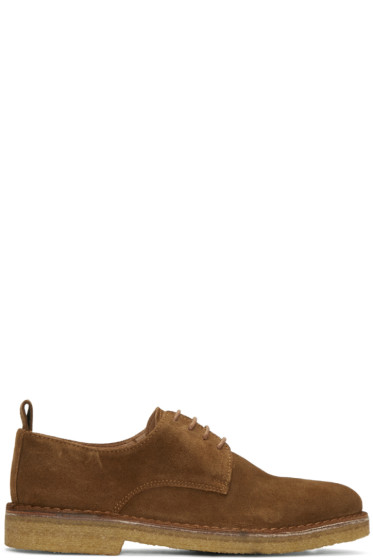 AMI Alexandre Mattiussi - Brown Suede Derbies