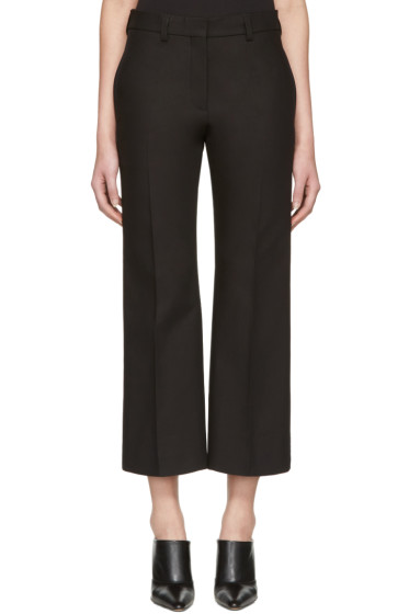 Calvin Klein Collection - Black Lagan Crop Flare Trousers