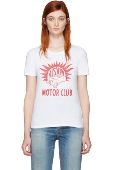 Visvim - White 'Motor Club' Basic Dry T-Shirt