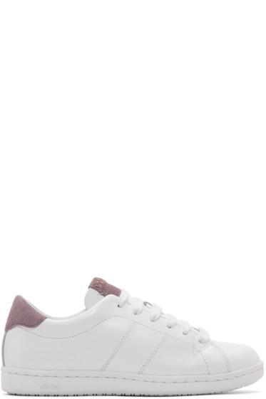 Visvim - White & Purple Foley-Folk Sneakers