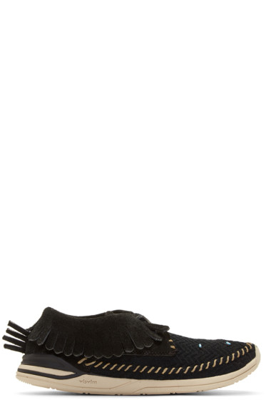 Visvim - Black Maliseet Mesh Shaman-Folk Moccasin Sneakers