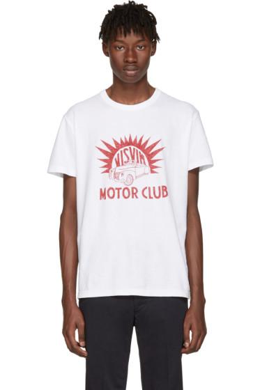 Visvim - White 'Motor Club' Vintage T-Shirt