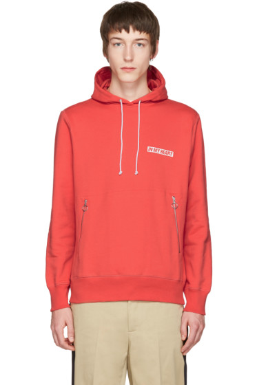 Tim Coppens - Red 'In My Heart' Wave Hoodie