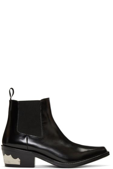 Toga Pulla - Black Harness Chelsea Boots