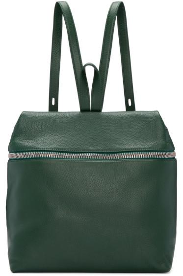 Kara - Green Leather Large Backpack