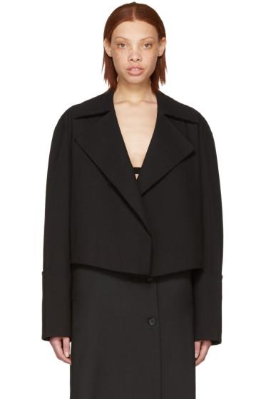Yang Li - Black Cropped Blazer