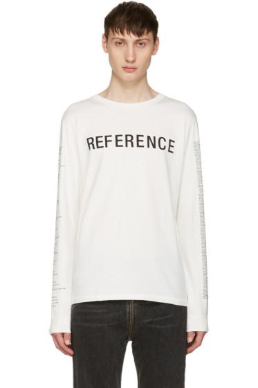 Yang Li - White 'Reference' T-Shirt