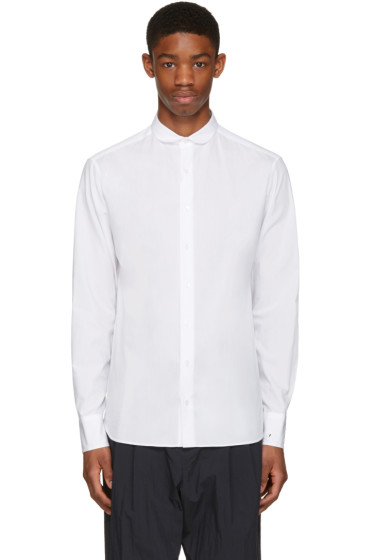Kolor - White Embroidered Cuff Shirt