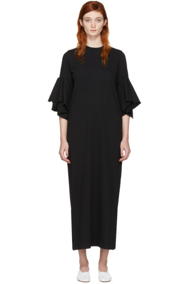 Facetasm - Black Flare Sleeve Dress