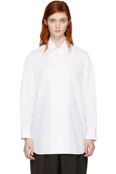 Facetasm - SSENSE Exclusive White Slit Shirt