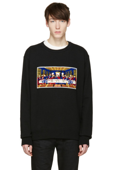 Facetasm - Black 'Last Supper' Pullover
