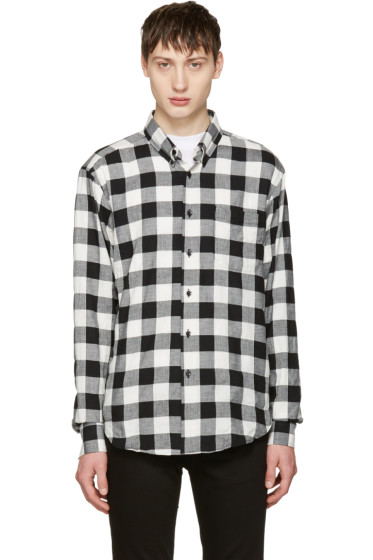 Naked & Famous Denim - Black & White Herringbone Buffalo Check Shirt